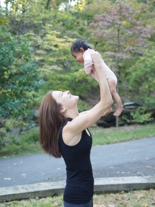 13 weeks postpartum. And I swear I'm still not drawing in my abs!