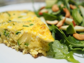 Fall Frittata with Arugula Salad
